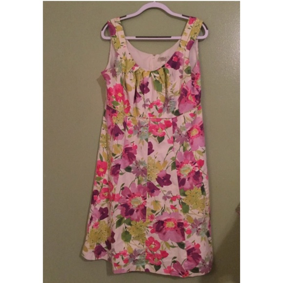 Dress Barn Plus Floral Summer Dress Plus Size 16